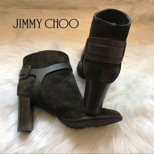 Authentic JIMMY CHOO Hose 80 Suede Logo Boots